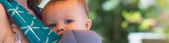 BECO雙子星四合一嬰兒背巾/背帶,新生兒就可使用的寶寶背巾