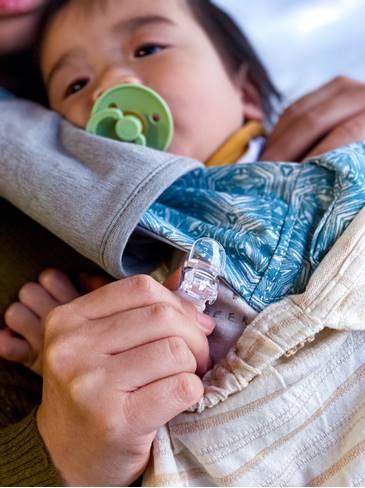 IBQ 多功能有機棉 UV 保護巾夾子的部分是使用日本製造的安全扣夾