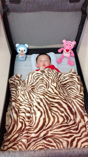 小梅減肥後新生活的maxdaniel棕色斑馬寶寶毯