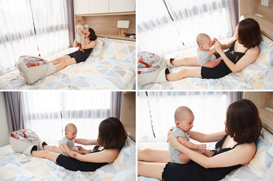 飛飛的的凱莎爾哺乳內衣+睡袍+MaxDaniel嬰兒毯子