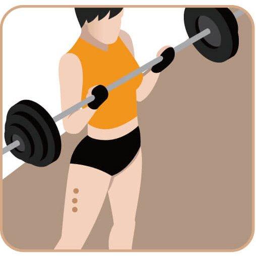 運動表現的健身族