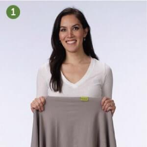 Boba包裹式背巾基本揹法步驟說明:1.打開包裹式揹巾