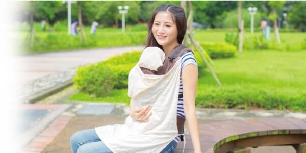 IBQ多功能有機棉UV保護巾情境圖