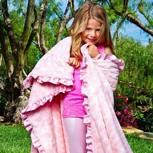 Max Daniel成人毯粉紅長頸鹿示意圖