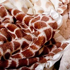 Max Daniel動物紋寶寶毯象牙白長頸鹿寶寶毯子示意圖