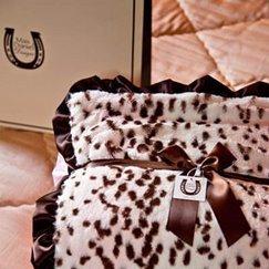 Max Daniel動物紋寶寶毯粉紅雪豹寶寶毯子示意圖