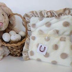 Max Daniel動物紋寶寶毯香檳點點寶寶毯子示意圖