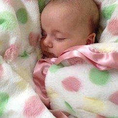 Max Daniel動物紋寶寶毯粉紅彩色點點寶寶毯子示意圖