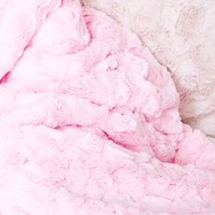 Max Daniel寶寶毯子粉紅貂紋示意圖