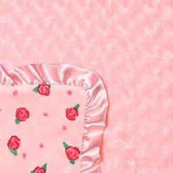 Max Daniel寶寶毯子玫瑰花紋蜜桃玫瑰示意圖