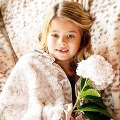 好萊塢明星最愛的花蕾香檳色寶寶毯子